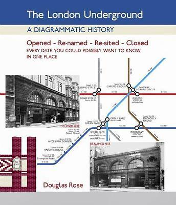 THE LONDON UNDERGROUND - a diagrammatic history map closed renamed open lines