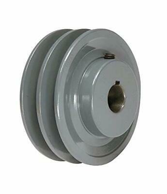 Cast Iron Pulley 3.55 For Electric Motor 2 Groove For B 5l 58 Belts 2bk34h