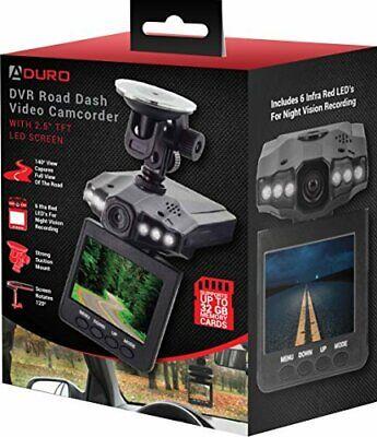 "Aduro DVR Video Audio Dash Cam, Infrared Night Vision 2.4"" Screen, Auto on/off"