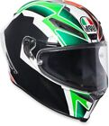 Green AGV Motorcycle Helmets