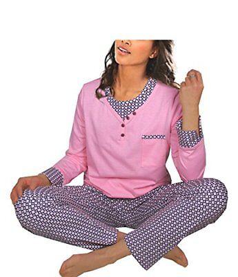 Damen-Pyjama Schlafanzug 3/4 Ärmel (DW192) Gr. 56-58  NEU Baumwolle Jersey