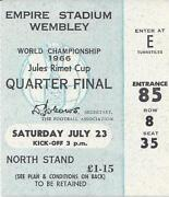 World Cup 1966 Ticket