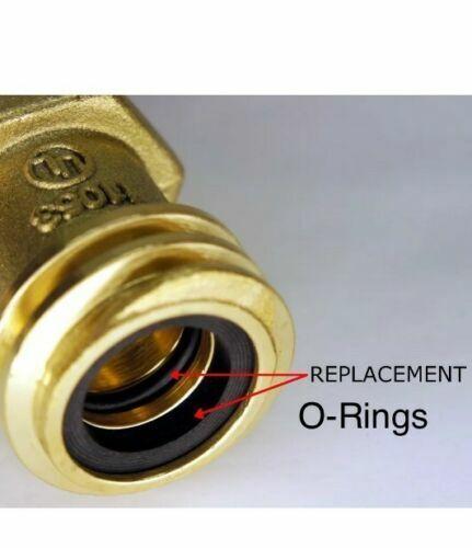 O-RING SET MALE COUPLER PROPANE TANK FORKLIFT BUFFER REGO 7141M SEAL GASKET