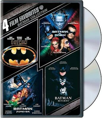 Batman Collection  4 Film Favorites  2 Discs  Dvd Region 1