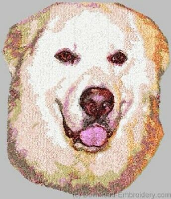 Large Embroidered Zippered Tote - Great Pyrenees DLE1548