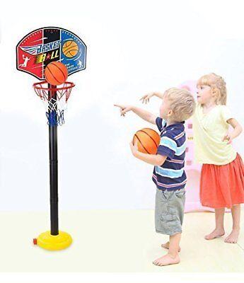 Indoor/Outdoor Adjustable Free Standing Basketball Netball Hoop Kids Toy Games