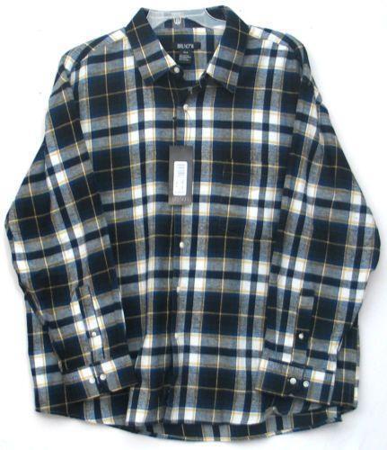Mens flannel shirts 3xl ebay for Mens xl flannel shirts
