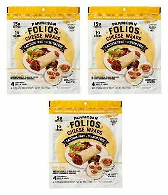 Folios 100% All Natural Cheese Wraps Parmesan 3 Pack