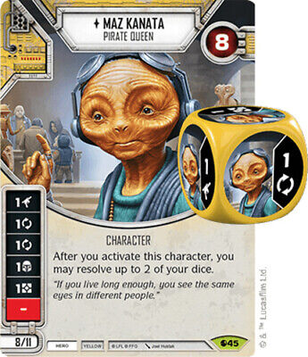 X1 Maz Kanata - Pirate Queen 45 Star Wars Destiny Spirit Of Rebellion M/NM - $2.39