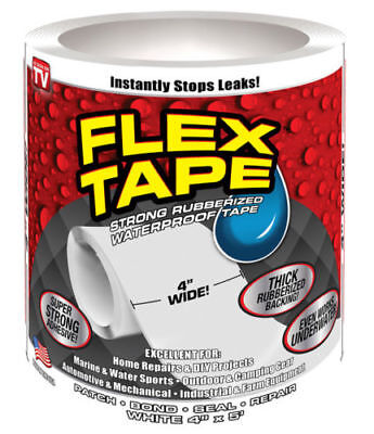 Flex Seal Tfswhtr0405 Waterproof Repair Tape White 4 X 5