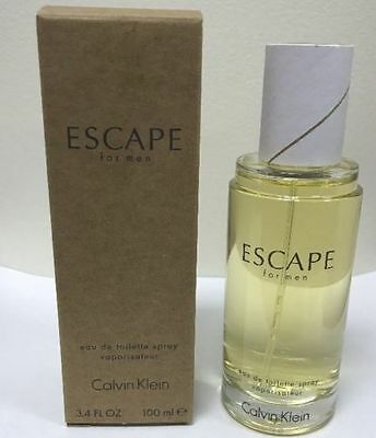 Escape By Calvin Klein Men 3.4 oz 100 ml *Eau De Toilette* Spray New