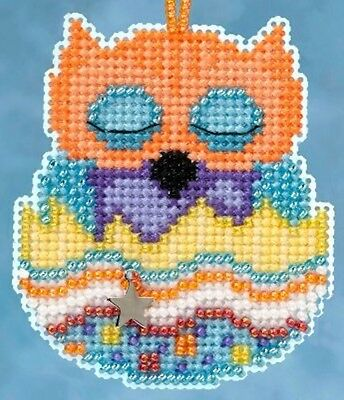 10% Off Mill Hill Owlets Charmed Ornaments Counted X-stitch/Bead Kit - Tango