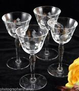 Libbey Etched Glasses