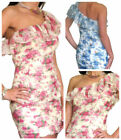 Wedding Guest One Shoulder Dresses for Women with Ruffle