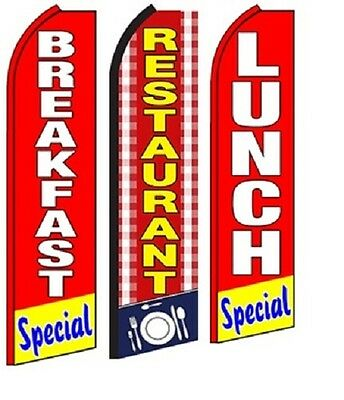 Restaurant Lunch Breakfast Special Standard Size Swooper Flag Pk Of 3 Combo