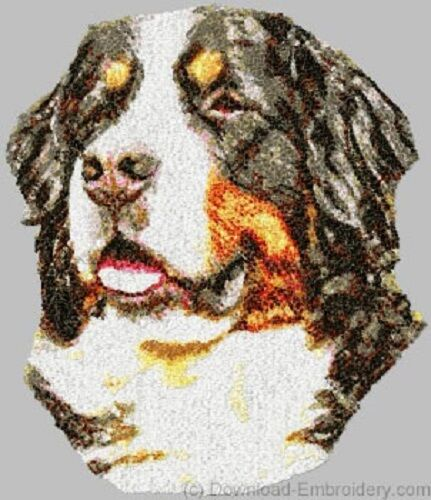 Large Embroidered Zippered Tote - Bernese Mountain Dog DLE1483