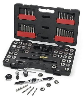 Gearwrench 3887 75-piece Combination Saemetric Ratcheting Tap And Die Drive Set