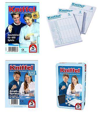 Schmidt Spiele Kniffel Ersatz Block oder komplettes Spiel Auswahl (Glücksspiele)