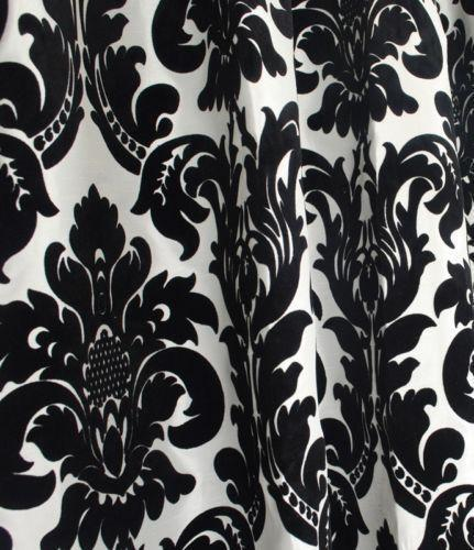 Black And White Damask Fabric Ebay