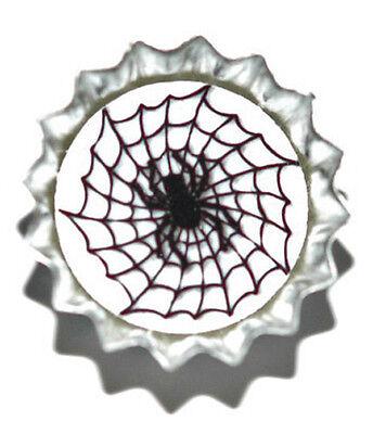 Spider Bottle Mini (SPIDER WEB HALLOWEEN MINI BOTTLE CAP TIE TACK)