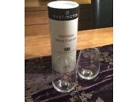 Dartington Stemless Wine Glasses x 2