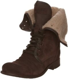 Brand New Designer Maruti Women's Morgana Boot In Dark Brown Suede Size 3.5 RRP £129.95 - Can Post