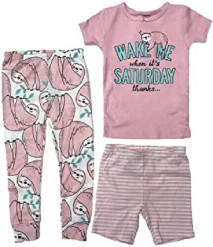 "Carter's Girl-""Wake me up when it's Saturday"" 3 piece set- Size 6 Baby"