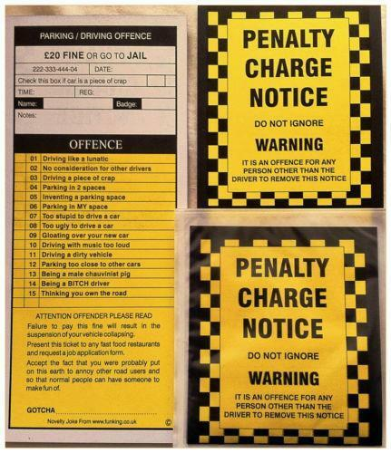 free fake parking ticket template - fake parking tickets jokes pranks ebay