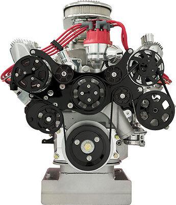 BILLET SPECIALTIES TRU TRAC FORD FE BLACK FRONT ENGINE KIT,A/C COMPRESSOR,PUMPS