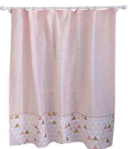 Pillowfort Triangle Shower Curtain    Pink Multi