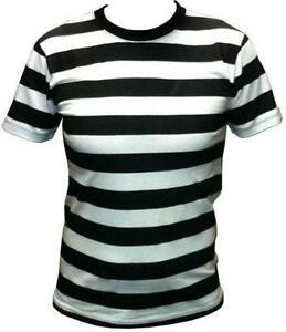 5d6bc81aa89b Mens Black and White Striped T-shirt