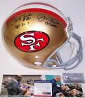 Joe Montana Jerry Rice Signed Helmet