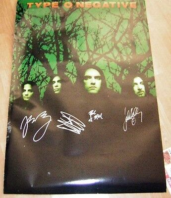 TYPE O NEGATIVE SIGNED PROMO POSTER OCTOBER RUST Peter STEELE 1996 JOSH SILVER