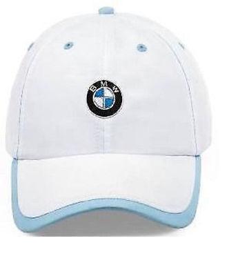 BMW Ladies' White & Blue Microfiber Logo Roundel Cap Hat 80160439608  OEM