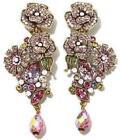 Crystal Art Deco Omega back Fashion Earrings