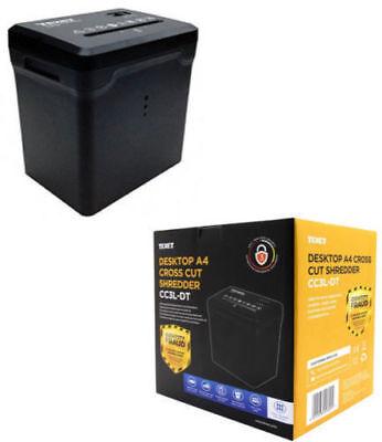 Texet Electric Desktop Paper Shredder Cross Cut Shredding Cards Documents Bin Uk