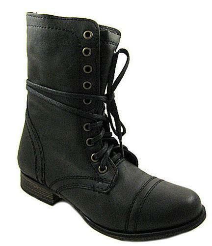steve madden boots brown troopa lace up ebay