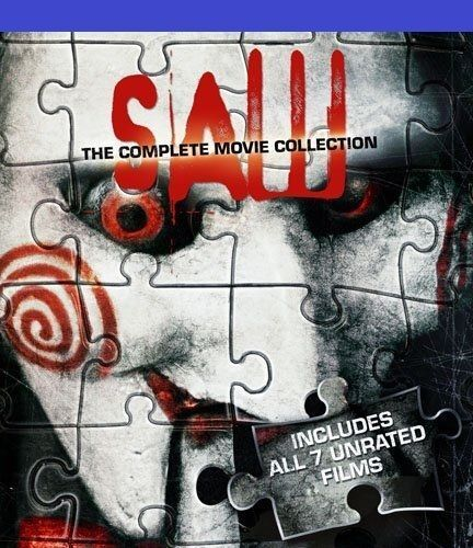 Saw: The Complete 1 2 3 4 5 6 & 7 UNRATED Movie Collection Box Set   New Blu-ray