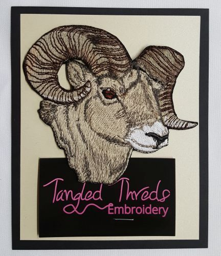 "Ram, Sheep Embroidered Patch Size 4.6""x 4"""