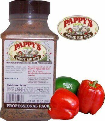 PAPPY'S PRIME RIB RUB Choice Seasoning Spice BBQ Rub No MSG Natural Ingrediants