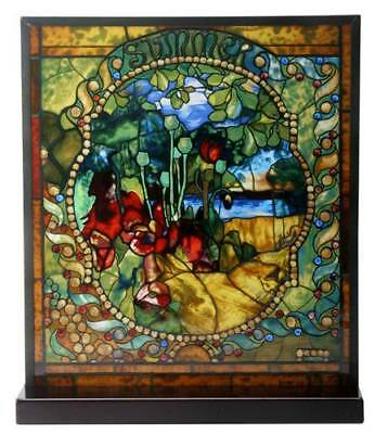 "Tiffany Style The Four Seasons ""SUMMER"" Stained Art Glass Window Panel Display"