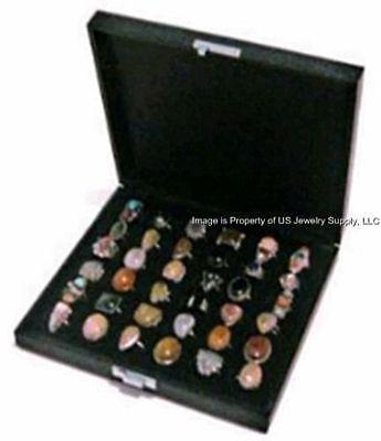 1 Wholesale Wide Slot Large 36 Ring Display Portable Sales Storage Box Case