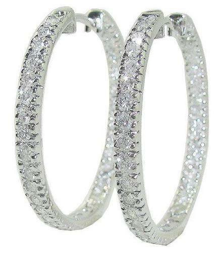 hoops carat jewellery earrings drop in gold earings diamond ctw bezel link white
