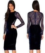 Velvet Collar Dress