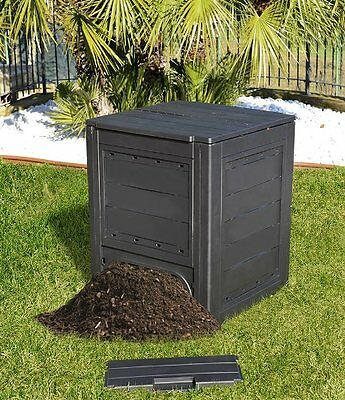 260L Garden Bin Composter Eco Friendly Recycling Compost Waste Black Box New