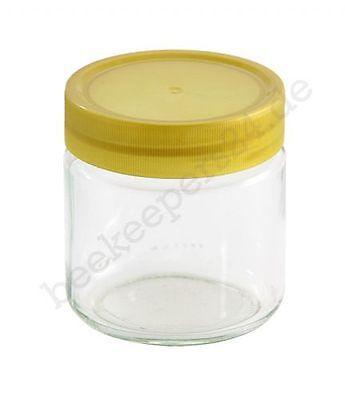 12 Stück Honigglas 250 g mit Schraubdeckel Kunststoff, Honiggläser neutral