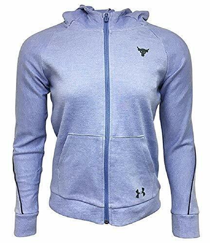 Under Armour Girls Full-Zip Jacket Cotton/Polyester Blend Purple 10-12 M 1348...