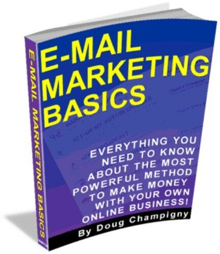 E-mail Marketing Basics PDF eBook with Full resale rights!