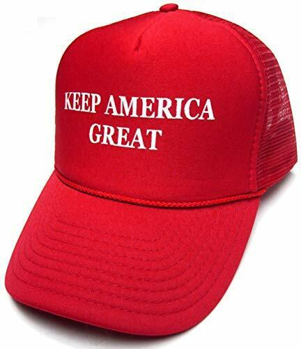 Keep America Great Hat Donald Trump 2020 Trucker Red Cap w/Mesh Back
