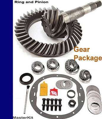 (DTPLV Ring Pinion Gear Set 8.5 8.6 10 Bolt 3.73 Ratio Master Kit Chevy GM 09 14)